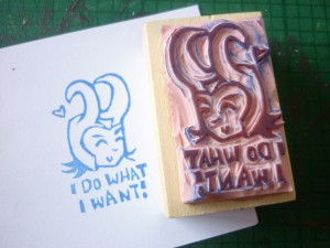 rubber stamp of Loki