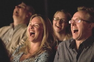 audience laughing
